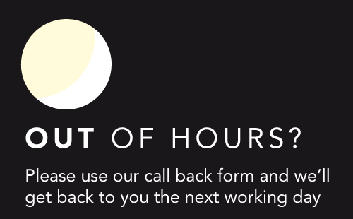 Use our call back form and we'll get back to you the next working day